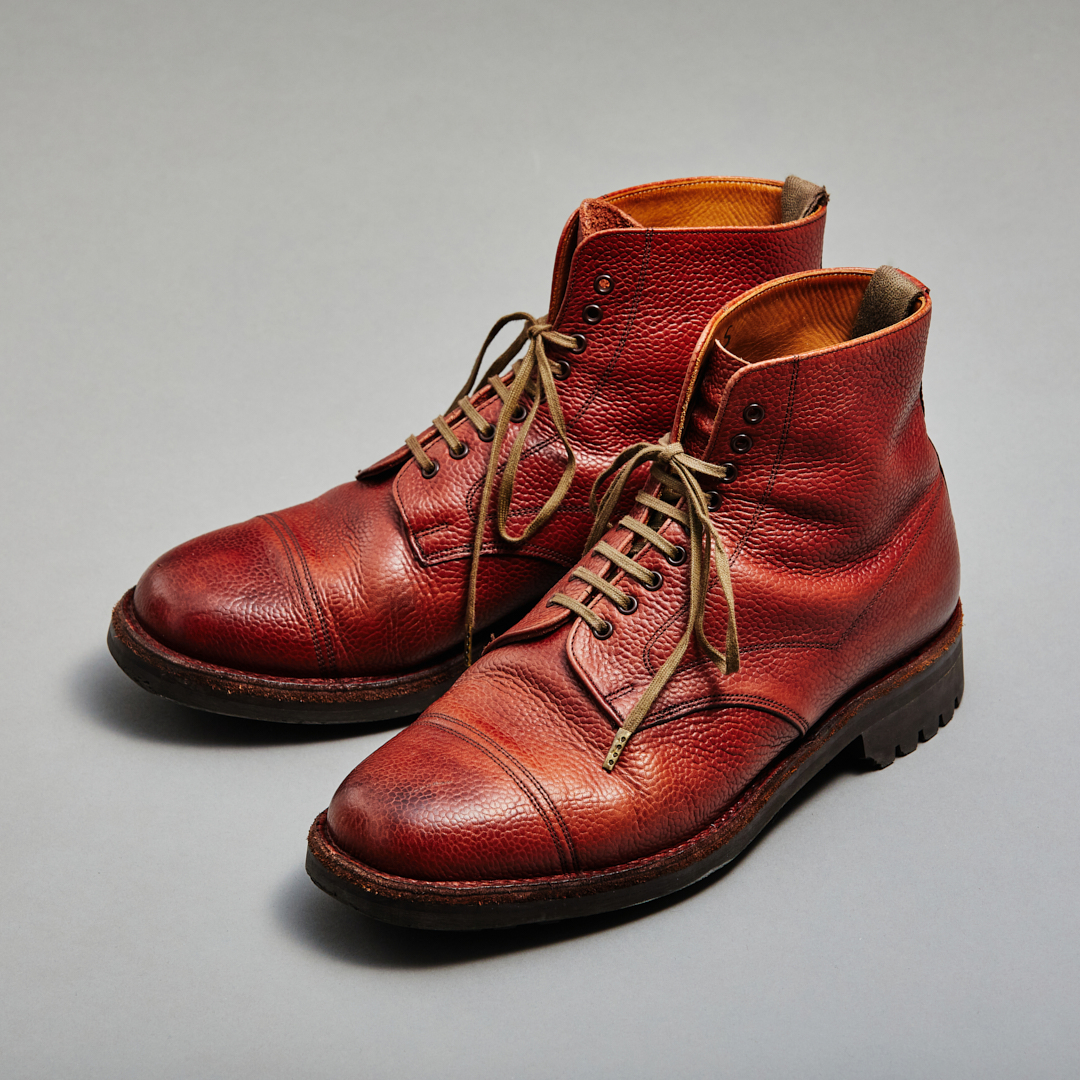 AGING MUSEUM of JOSEPH CHEANEY BURGUNDY PENNINE Ⅱ R(ペナイン) 7年着用